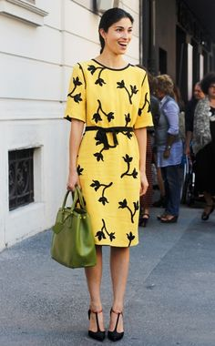 Caroline Issa  WHAT:    Louis Vuitton dress  WHERE:    Etro spring 2013 show, Milan
