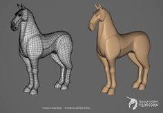 Trojan Horse was a Unicorn | Concept by Serge Birault | Model by José da Silva | http://www.trojan-unicorn.com