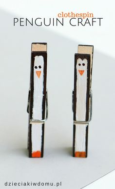 clothespin penguin craft for kids