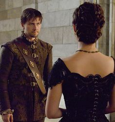 """Mary (Adelaide Kane) and Sebastian """"Bash"""" (Torrance Coombs) from Reign."""