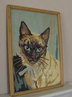 1960s paint-by-number kitty!