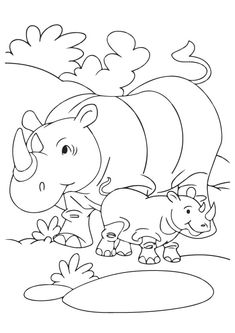 10 cute rhino coloring pages for your toddler - Coloring Books For Toddlers