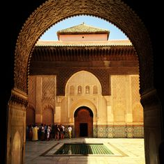 amazing Marrakech - took lots of photos on my trip for inspiration, including this one of the Medersa  mallorymay.com