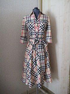 Платья ручной работы. Ярмарка Мастеров - ручная работа. Купить Платье-рубашка в клетку 2. Handmade. Платье, индивидуальный пошив
