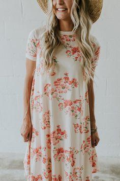 Nursing Friendly Floral Dress | ROOLEE Mom