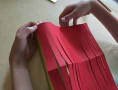 Making Easy  Chinese Paper Lantern Step 3