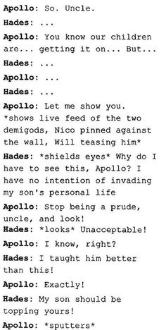 But Apollo is okay with solangelo , he says that in TOA<<But I think he's just trying to make Hades mad.