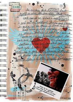 "soft heart ""art journal"" by glenda tkalac, via Flickr"