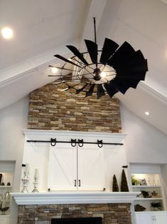 4 Simple and Stylish Tricks: Basement Remodeling Wood basement storage hacks.Old Basement Storage basement remodeling wood.Basement Remodeling On A Budget Apartment Therapy. Windmill Ceiling Fan, Windmill Decor, Home And Deco, Interior Barn Doors, Basement Remodeling, Basement Storage, Basement Plans, My Living Room, Living Area