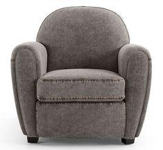 Butaca gris Vintage Bayo   Material: Madera de Abeto   Butaca tapizada con tela tejana de color gris 100 algodon, estructura y pies de madera abeto con relleno de espuma de poliuretano, no desenfundable... Eur:274 / $364.42