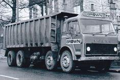 B/W PHOTO: BROWN VOLVO F86 8 WHEEL BULK TIPPER - WWU 945S #NA Big Rig Trucks, Dump Trucks, Cool Trucks, Cool Cars, Transportation Logo, Old Lorries, Vintage Trucks, Classic Trucks, Axe