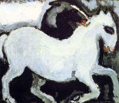 Белая лошадь. 1904. масло, холст. Частная коллекция. Kees van Dongen