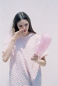new girl in town Mono Floral, Editorial Fashion, Fashion Trends, Up Girl, Cotton Candy, Pretty In Pink, Outfit, Knitwear, Fashion Photography