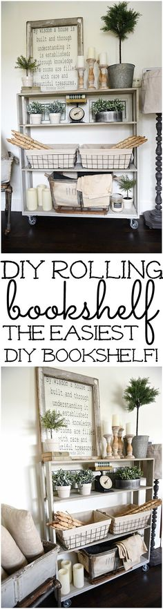 DIY rolling bookshel