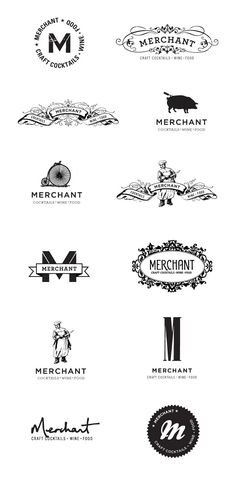 [ branding + options + personality ] very different logo styles for the same company - logo studies Typography Logo, Graphic Design Typography, Logo Branding, Lettering, Restaurant Branding, Identity Design, Design Logos, Design Graphique, Creative Logo