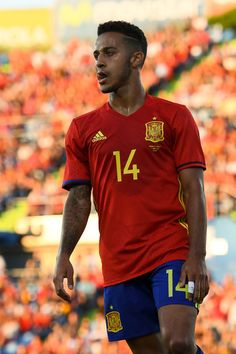 Thiago Alcantara of Spain looks on during an international friendly match between Spain and Georgia at Alfonso Perez stadium on June 7, 2016 in Getafe, Spain.