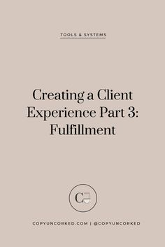 Creating a Client Experience Part Fulfillment Starting A Business, Business Planning, Business Tips, Online Business, Business Entrepreneur, Business Marketing, Business Analyst, Internet Marketing, Media Marketing