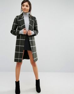 Oasis Checked Coat Brushed wool-mix fabric Lightweight design Fully lined Notch lapels Single button fastening Pockets may be tacked Regular fit - true to size Dry clean 5% Acrylic, 30% Polyester, 20% Wool, 5% Other materials