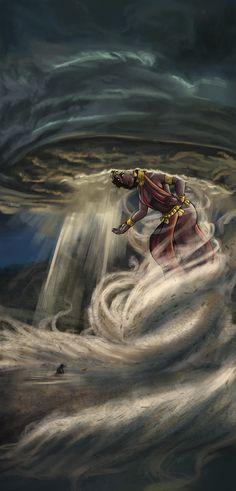 Yoruba Goddess Oya on Behance African Mythology, African Goddess, Black Love Art, Black Girl Art, African American Art, African Art, Oya Goddess, Goddess Art, Oya Orisha