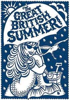 Great British Summer design in blue #summer