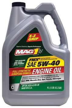 Mag 1 628383PK SAE 5W40 Full Synthetic European Formula Engine Oil  4 Liter Pack of 3 * See this great product by click affiliate link Amazon.com