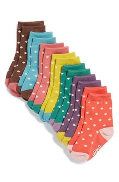 colorful polka dot socks http://rstyle.me/n/vc3s5r9te
