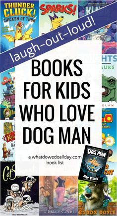 Books like Dog Man for fans of Dav Pilkeys hilarious series. Funny graphic novels and chapter books to keep kids reading while they wait for the next book in the Dog Man series! Best Children Books, Books For Boys, Childrens Books, Read Aloud Books, Good Books, New Children's Books, Dog Man Book, Funny Stories For Kids, Funny Books For Kids