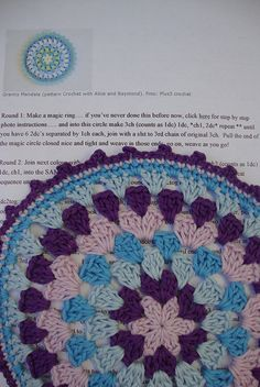 Crochet Mandala by Claudia Virgilio, via Flickr