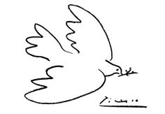Picasso Dove of Peace. I want to add this to my other Picasso Peace Dove tattoo.