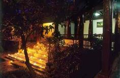 Evening lamps at the Tharavad Heritage homestay located in Palakkad the rice bowl of Kerala - Southern tip of India