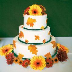 Real Fall Wedding Cakes