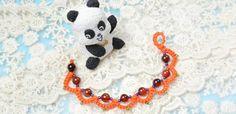 Autumn Jewelry Project- Free Orange Beaded Tatting Bracelet Patterns