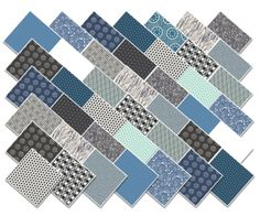 Art Gallery Fabric Charm Pack DARKS squares by MyFabricAddiction1, $12.49