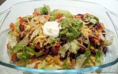 loaded organic nacho cheese, a healthy recipe! with beans, cheese, guacamole. sugarfree, vegetarian.