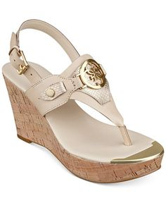 031452df7ae GUESS Marcina Platform Wedge Thong Sandals - Shoes - Macy s Flip Flop  Sandals