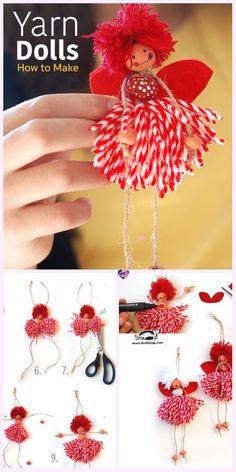 diy yarn crafts for kids . diy yarn crafts to sell . diy yarn crafts no sew . diy yarn crafts step by step Easy Yarn Crafts, Yarn Crafts For Kids, Pom Pom Crafts, Craft Stick Crafts, Crafts To Sell, Fabric Crafts, Diy And Crafts, Kids Diy, Crochet Crafts