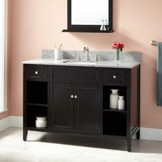 "48""+Caitlyn+Vanity+for+Rectangular+Undermount+Sink+-+Black"