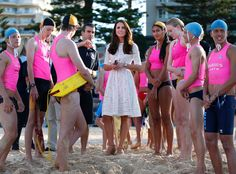 ROYAL FAMILY DOWN UNDER KATE MIDDLETON  life saving swimmers australia