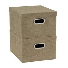 Household Essentials Fabric Storage Boxes with Lids and Handles, Natural Storage Bins With Lids, Fabric Storage Boxes, Fabric Boxes, Linen Storage, Studio Organization, Thing 1, Box With Lid, Baby Clothes Shops, Baby Shop