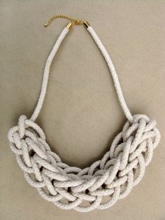 Knitted Rope Necklace