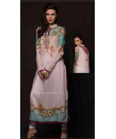Stitched Pakistani Kurti - Cotton Silk Green Top