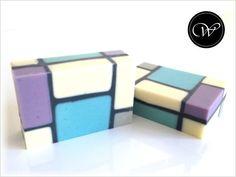 "Seife ""Mondrian"" - Geometric Soap"