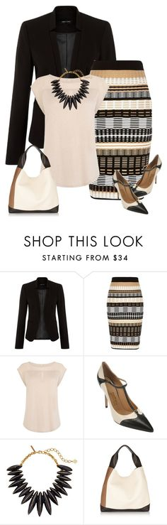 """Spring Work Wear #4"" by alpate ❤ liked on Polyvore featuring New Look, River Island, Karen Millen, Salvatore Ferragamo, Oscar de la Renta and Marni"