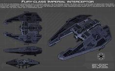 Fury-class Imperial Interceptor ortho [New] by unusualsuspex on DeviantArt
