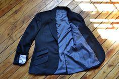Black Round Notch Suit