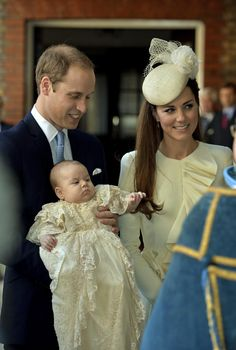 Royal Baby Christening - William and Kate and HRH Prince George