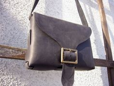 Small Leather Bag handcrafted out of black by NaturalDesignCrafts, $52.00