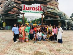 The lovely ladies group of Kirti Goyal enjoying at Jurasik Park Inn! Plan your get together at Jurasik Park Inn because we have special packages *T&C apply Dinosaur History, Ladies Group, Fun Days Out, Social Events, Amusement Park, Amazing Destinations, Ancient History, How To Plan, Water