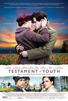 trailer is out for Testament of Youth, based on Vera Brittain's memoir and starring Alicia Vikander (Ex Machina) and Kit Harington (Game of Thrones), Indiewire reported. The film opens in limited release June Streaming Movies, Hd Movies, Movies Online, Movies And Tv Shows, Movie Tv, Movies Free, Netflix Online, Movies 2014, Romance Movies