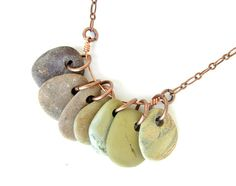 Ombre jewelry SALE - Desert Canyon Rock Collection Necklace on Copper. Rock Jewelry, Jewelry Box, Jewelry Making, Metal Jewelry, Jewelry Ideas, Diy Jewelry, Beaded Jewelry, Jewlery, Stone Necklace